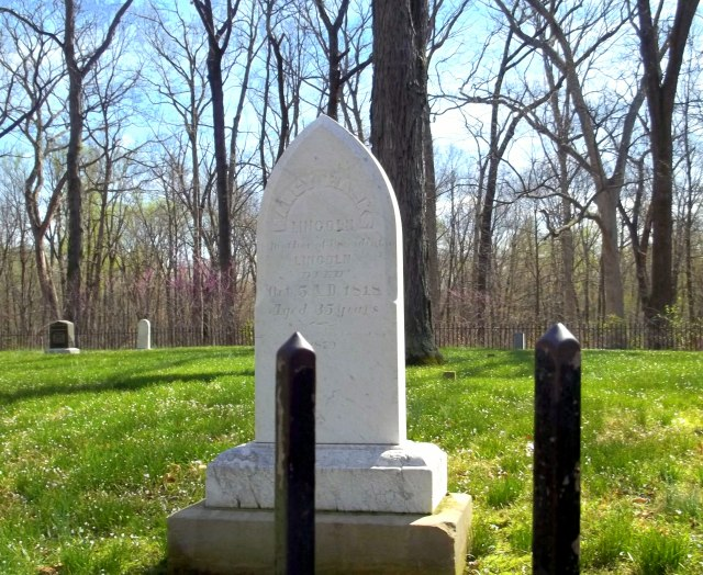 Nancy Hanks Lincoln grave site | Abraham Lincoln Boyhood Home National Memorial