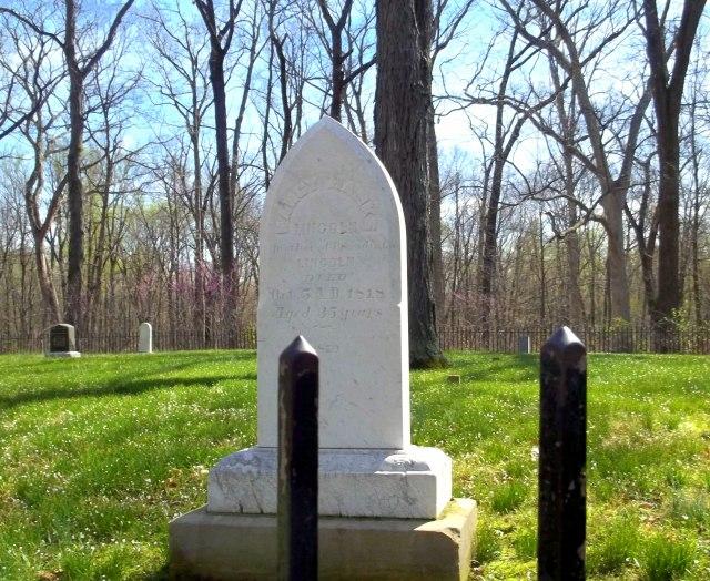 Nancy Hanks Lincoln grave site   Abraham Lincoln Boyhood Home National Memorial
